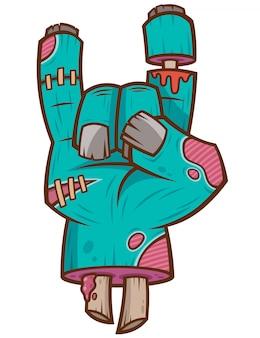 Dibujos animados de la mano de zombie