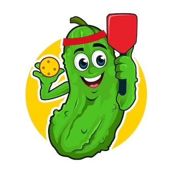Dibujos animados de mascota pickle