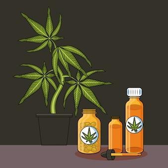 Dibujos animados médicos de cannabis