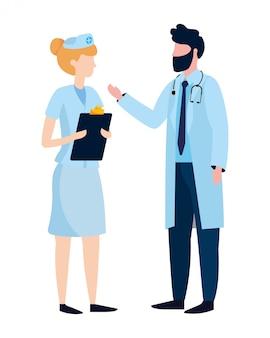 Dibujos animados medicos de salud