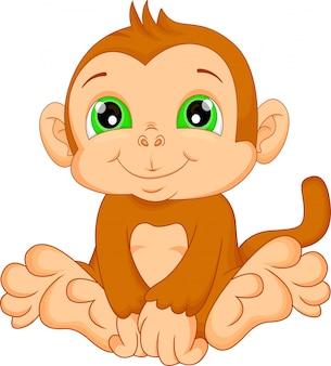 Dibujos animados mono lindo bebé