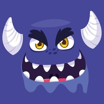 Dibujos animados de monstruo morado