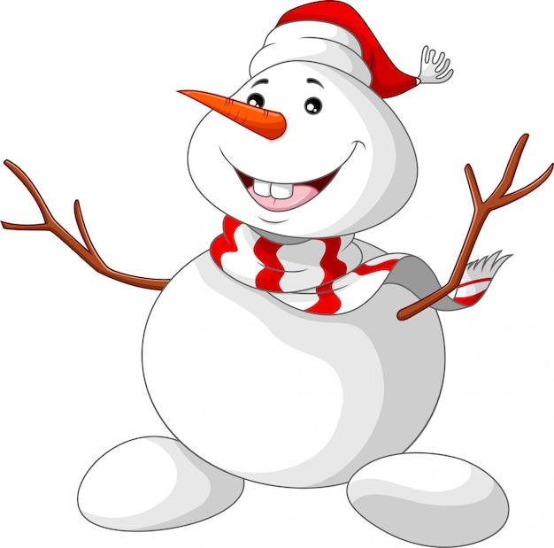 Dibujos animados de muñeco de nieve de navidad