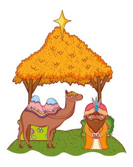 Dibujos animados de navidad natividad