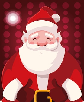 Dibujos animados de navidad de santa claus