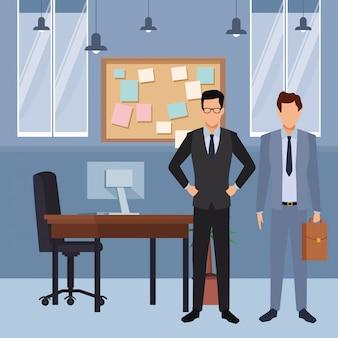 Dibujos animados de negocios ejecutivos