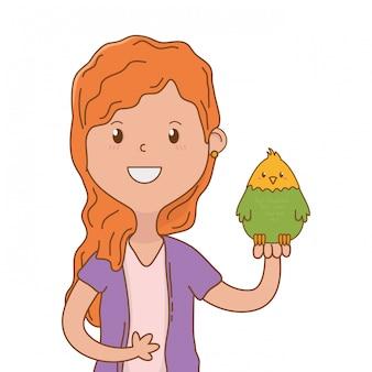 Dibujos animados de niño feliz infantil