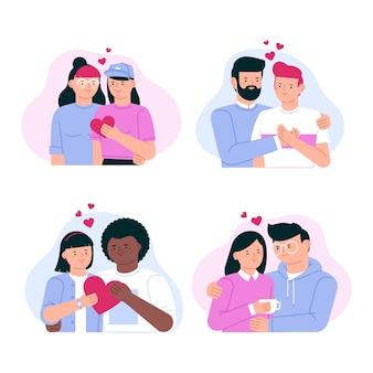 Dibujos animados de parejas enamoradas