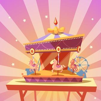 Dibujos animados del parque de atracciones