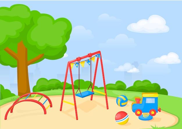 Dibujos animados de parque infantil