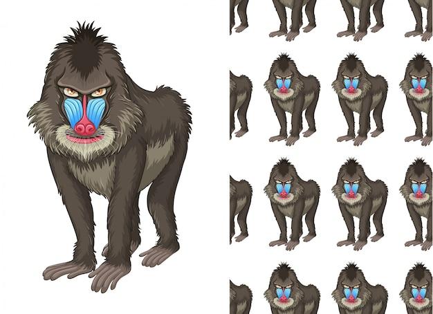 Dibujos animados de patrón animal aislado