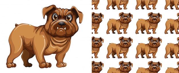 Dibujos animados de patrón de perro aislado