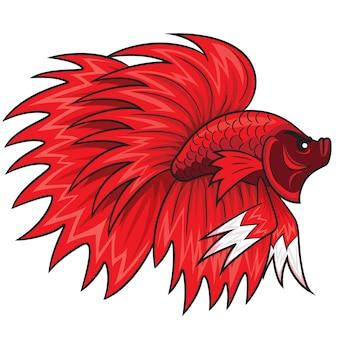 Dibujos animados de peces betta