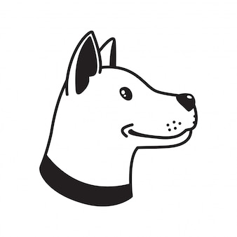 Dibujos animados de perro perro vector