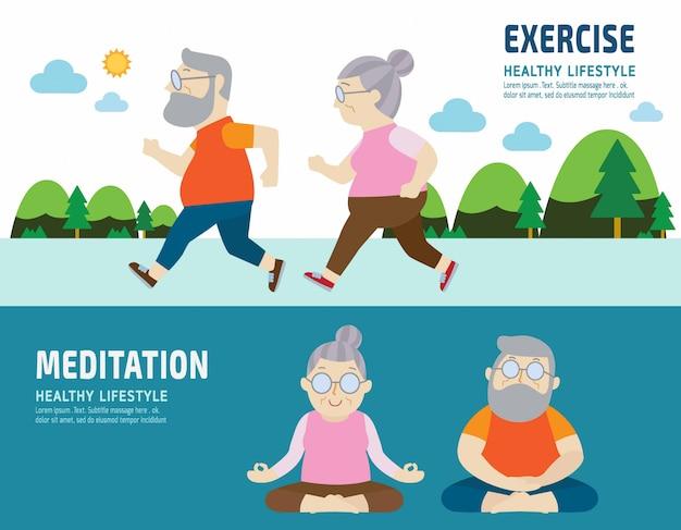 Dibujos animados de personajes de personas sanos