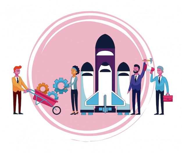 Dibujos animados de personas de negocios