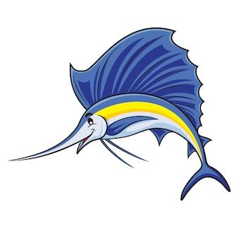 Dibujos animados de pez marlin