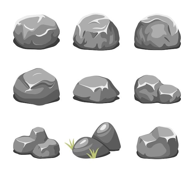 Dibujos animados de piedras y rocas