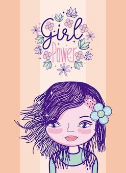 Dibujos animados de poder chica