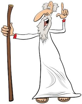 Dibujos animados de profeta o sabio