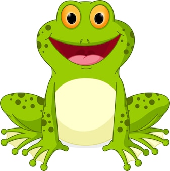 Dibujos animados de rana feliz
