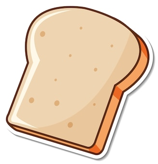 Dibujos animados de rebanada de pan tostado pegatina