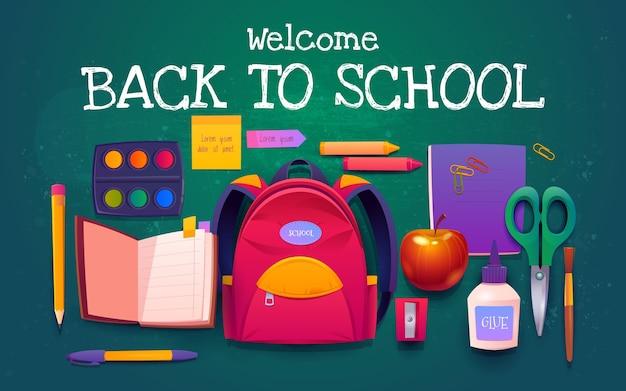 Dibujos animados de regreso a la escuela de fondo