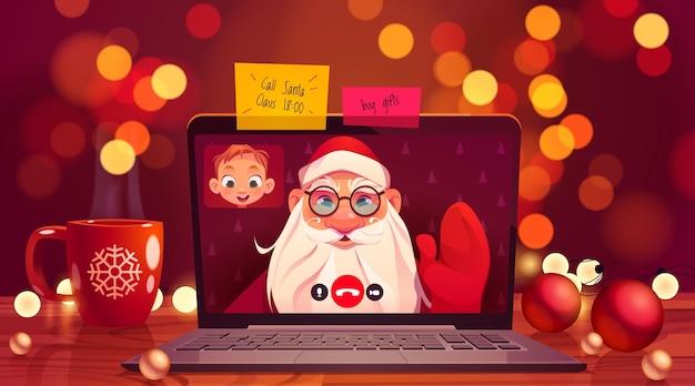 Dibujos animados de santa online