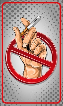 Dibujos animados de signo de no fumar