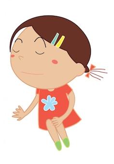 Dibujos animados simple de niño