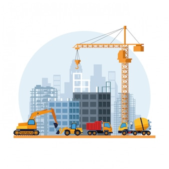 Dibujos animados del sitio de construcción