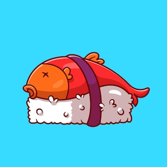 Dibujos animados de sushi de salmón