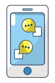 Dibujos animados de teléfonos inteligentes de tecnología