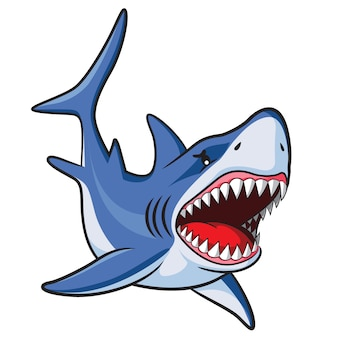 Dibujos animados de tiburon