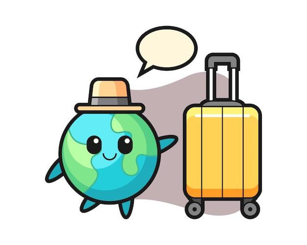 Dibujos animados de tierra en vacaciones