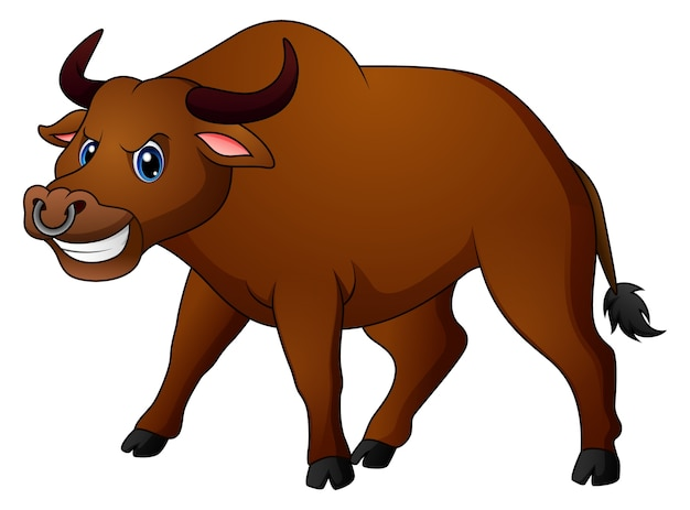 Dibujos animados de toro enojado