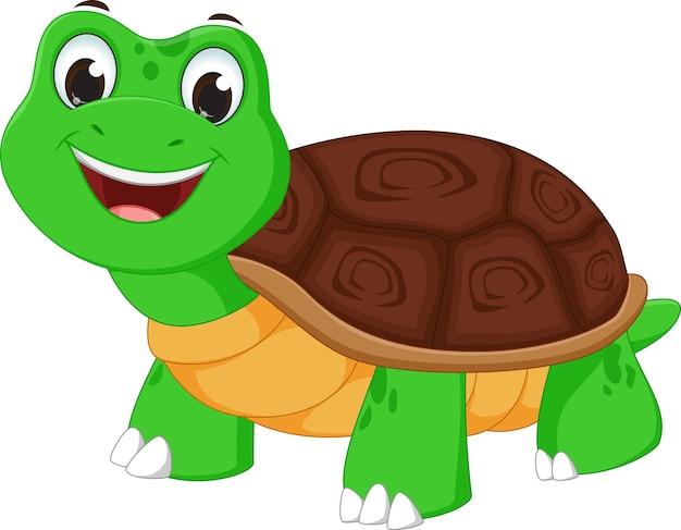 Dibujos animados de tortuga feliz | Vector Premium