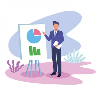Dibujos animados de trabajo ejecutivo profesional de negocios