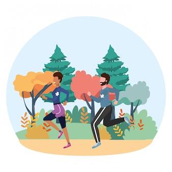 Dibujos animados de tren deportivo fitness