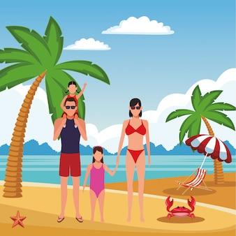 Dibujos animados de vacaciones de verano