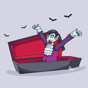 Dibujos animados de vampiros se están despertando