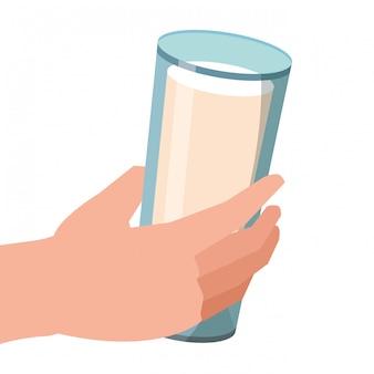 Dibujos animados de vaso de leche