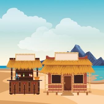 Dibujos animados de verano playa