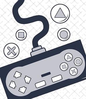 Dibujos animados de videojuegos vintage