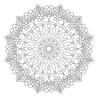 Hermosa Flor De Mandala Vector Premium