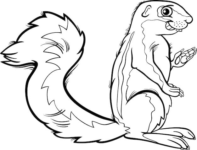 Dibujos para colorear xerus animal cartoon