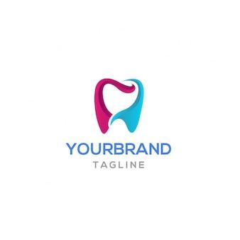 Diente colorido diseño de logotipo