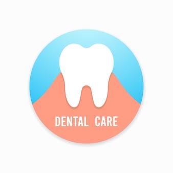 Diente. concepto de odontología, medicina y salud.