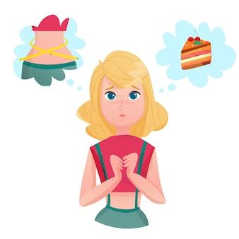 Dieta del forro dama tentaciones personaje de dibujos animados