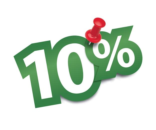 Diez por ciento fijado por una tachuela